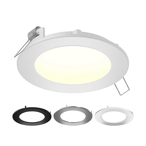 6-inch Color Selectable New Construction and Remodel IC Rated Recessed Integrated LED Round Kit