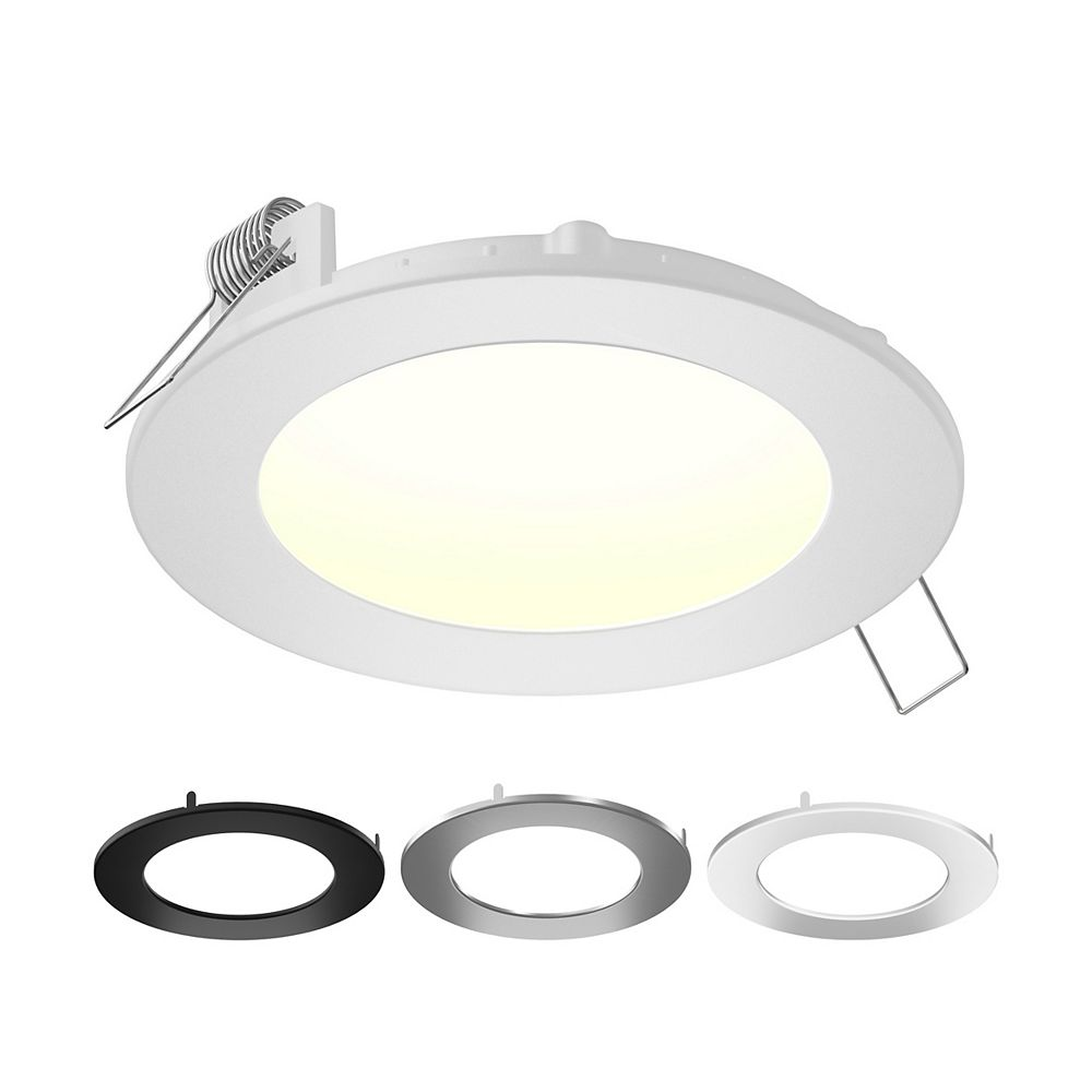 Illume 5-inch Color Selectable New Construction and Remodel IC Rated Recessed Integrated LED Round Kit