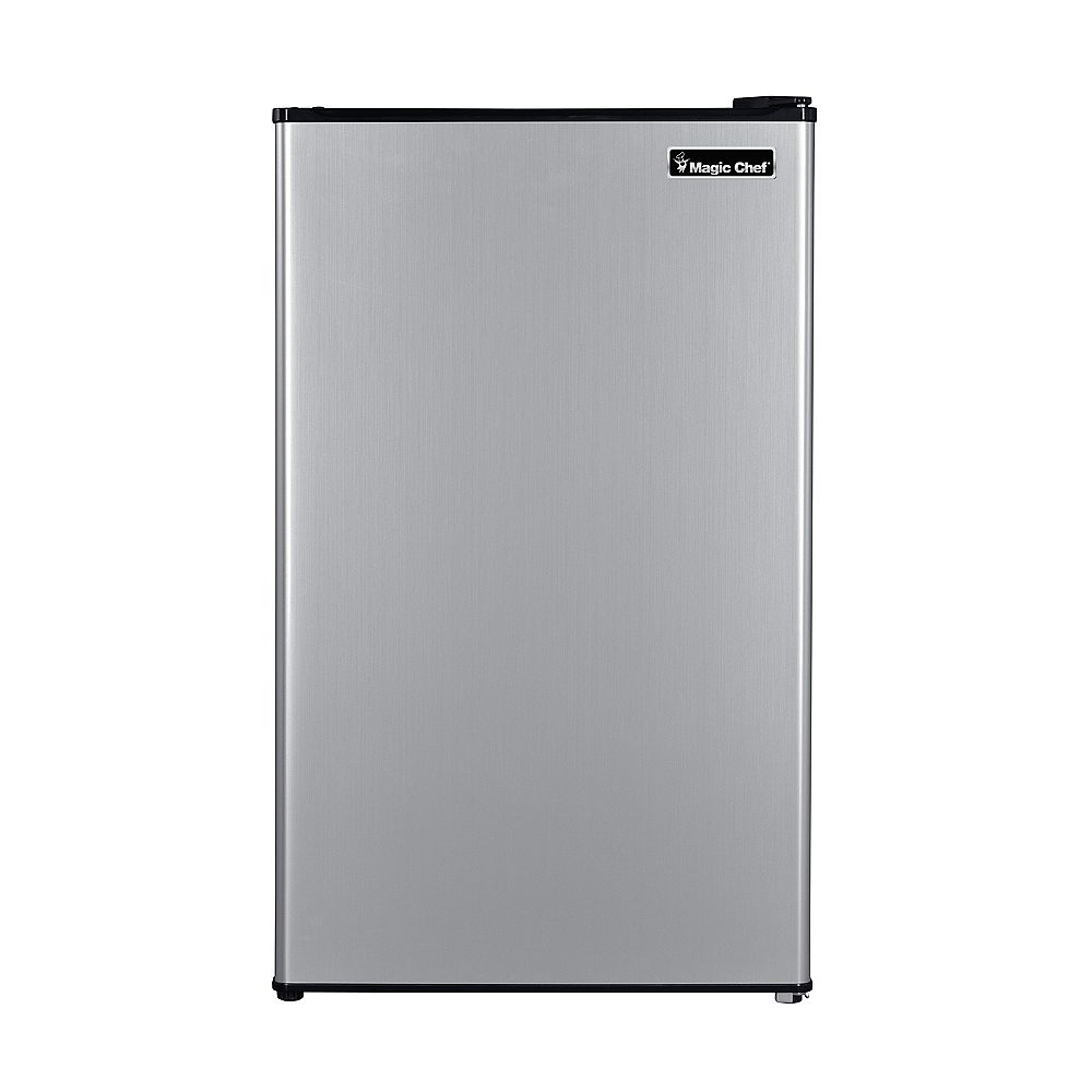 Magic Chef 3.3 cu. ft. Compact Refrigerator in Stainless Steel Look
