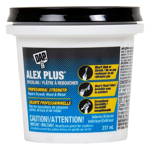 DAP Alex Plus 237mL Professional Strength White Spackling
