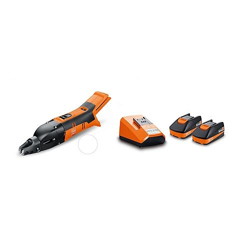 FEIN ABSS18 1.6E SET Cordless 18V Slitting Shears 16 ga. 1/16 inch with 3Ah Batteries and Chargeri