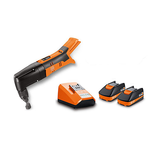 ABLK18 1.6E SET Cordless 18V Nibbler 16 gauge 1/16 inch with 2.5Ah Batteries and Charger