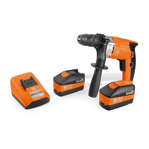 18 Volt Cordless  1/4 Inch Drill  With 3 Ah Batteries And Charger