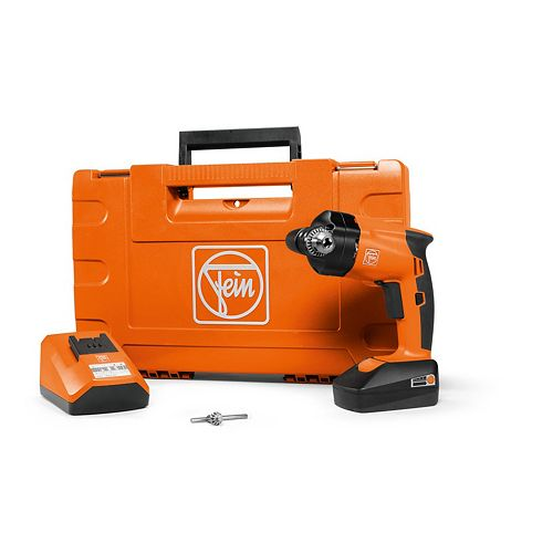 18 Volt Cordless 3/8 Inch Angle Drill With 3 Ah Batteries And Charger