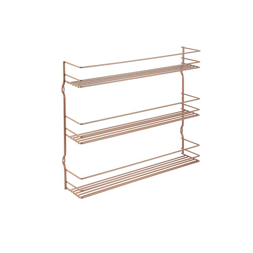 Metaltex Pepito 3 Copper Wall Mounted Spice Rack