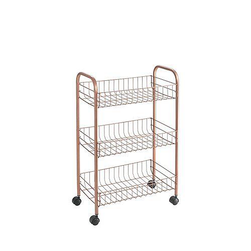 Ascona 3 Copper Multipurpose Storage Cart