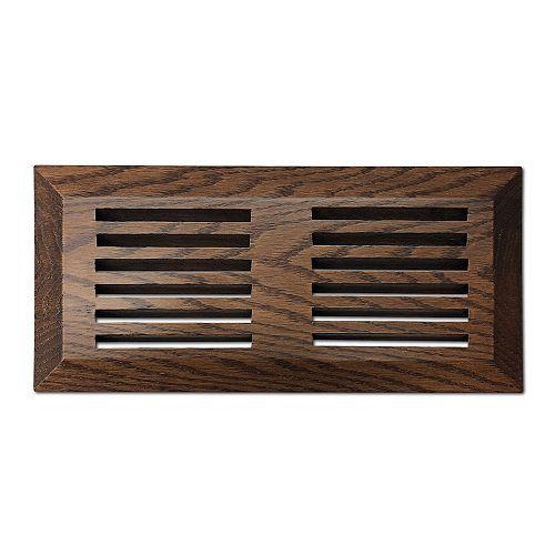 Finium grille de ventilation 4x10 de surface Brun Médium