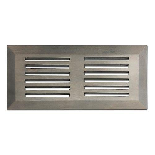 Finium grille de ventilation 4x10 de surface Blanchit