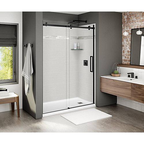 Halo 56.5-inch to 59-inch x 78.75-inch Sliding Shower Door in Matte Black