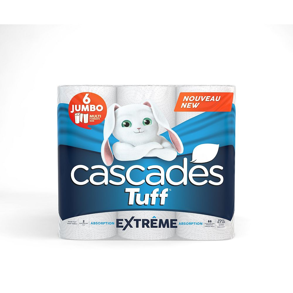 Cascades Tuff Extreme Paper Towels (6-Jumbo Roll)