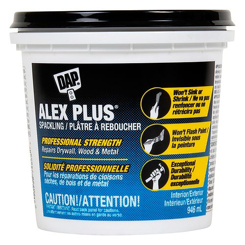 ALEX PLUS Spackling - White - 946ml