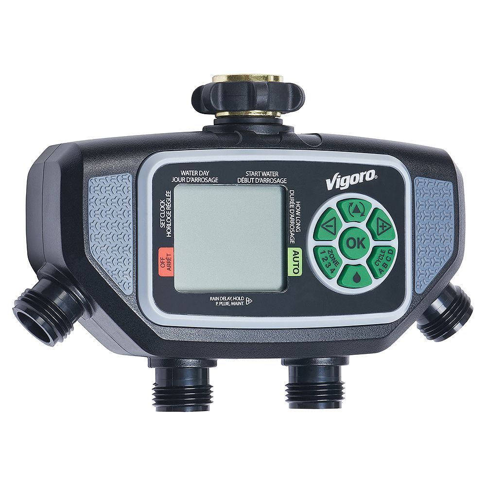 Vigoro Advanced 4 Zone Electronic Water Timer The Home Depot Canada