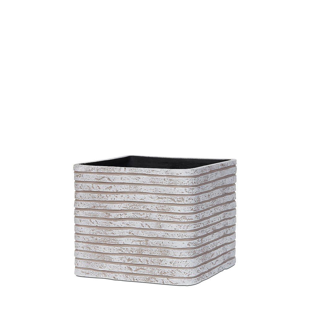 Home Decorators Collection Ivory Square Shaped Planter