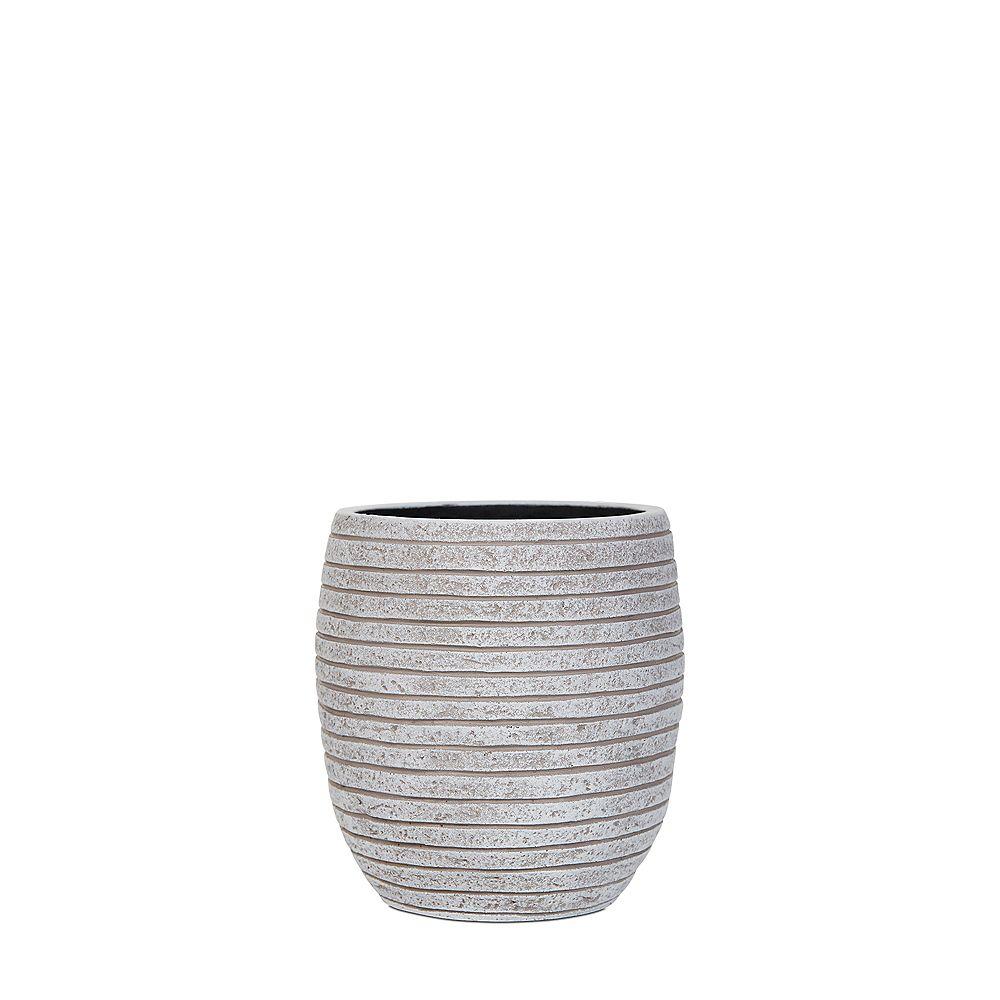 Home Decorators Collection Vase en ligne élégant en ivoire
