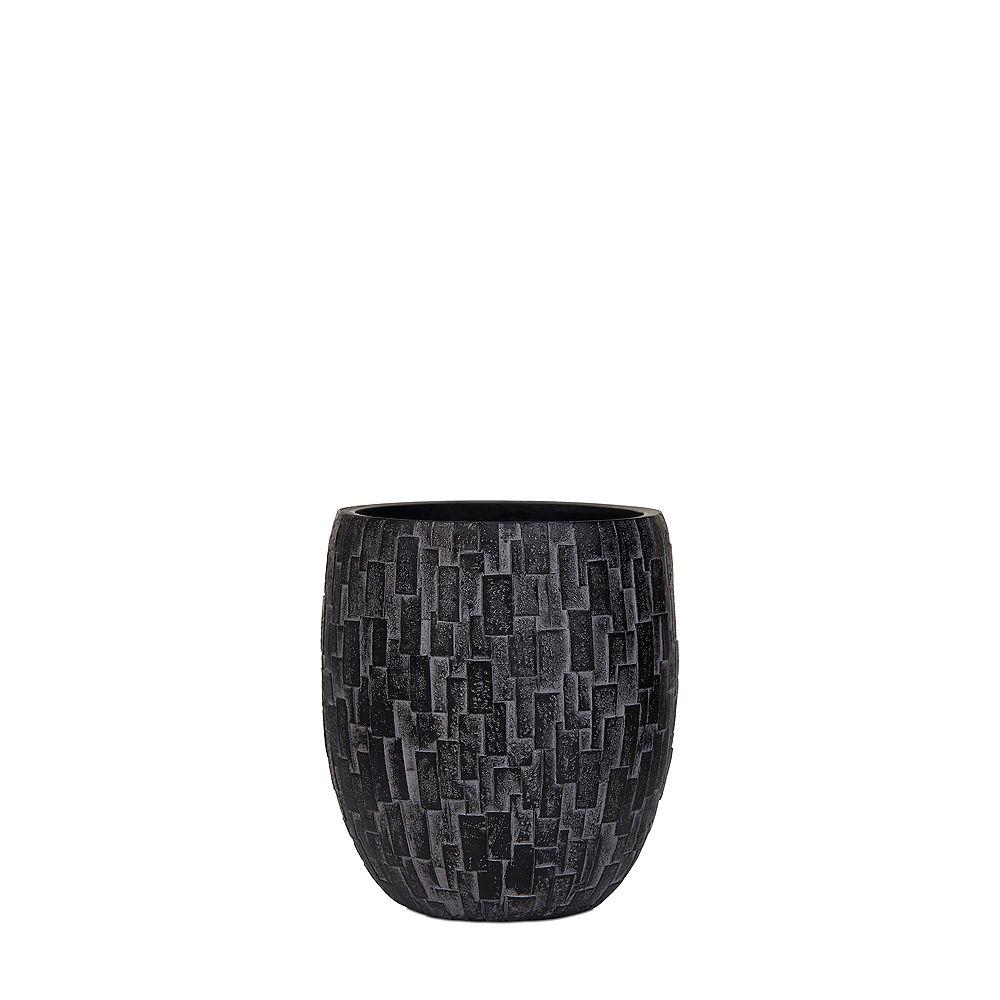 Home Decorators Collection Black Elegant Nature Stone Vase