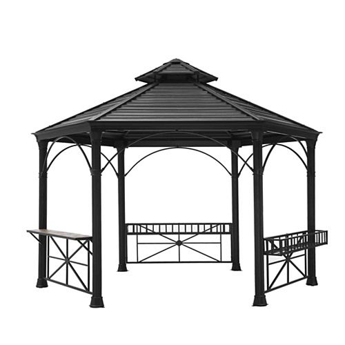 Garnett 12x14 Hexagonal Hard Top Gazebo