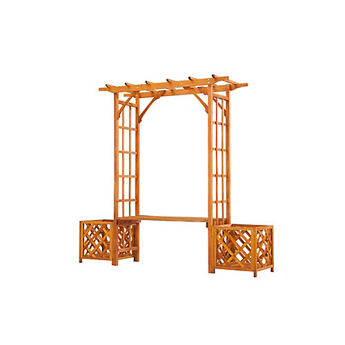 Wooden Trellis  Arbour With Seat