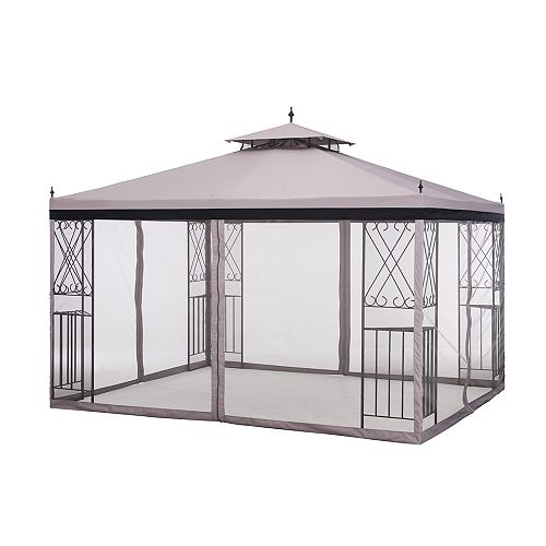 2 ft. x 10 ft. Parlay Gazebo with Netting