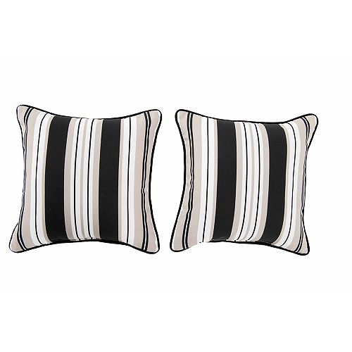 Lancaster Stripe - Lot de 2 oreillers en albâtre