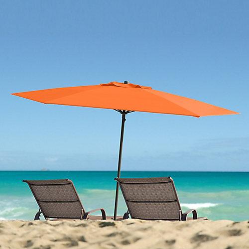 7.5 ft. UV and Wind Resistant Orange Beach/Patio Umbrella