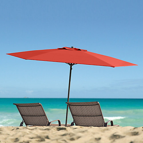 7.5 ft. UV and Wind Resistant Crimson Red Beach/Patio Umbrella