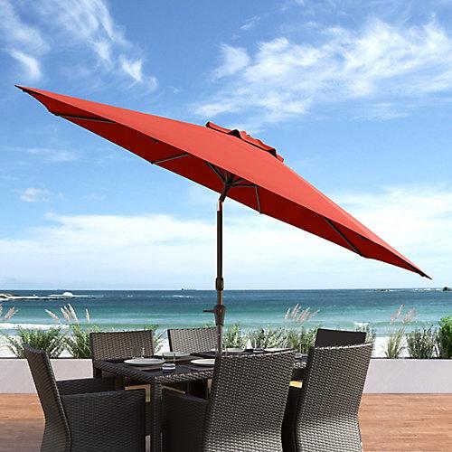 10 ft. UV and Wind Resistant Tilting Crimson Red Patio Umbrella