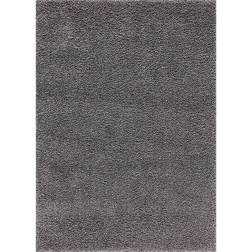 Merinos Grey 5 ft. 3-inch x 7 ft. 3-inch Shag Indoor Area Rug