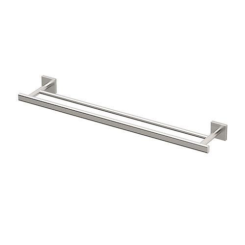 Elevate 24 inch L Double Towel Bar Satin Nickel