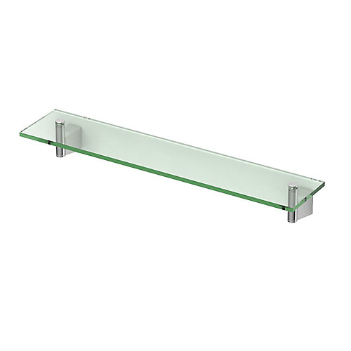 Bleu 20 1/8 inch L Glass Shelf Chrome