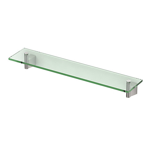 Bleu 20 1/8 inch L Glass Shelf Satin Nickel