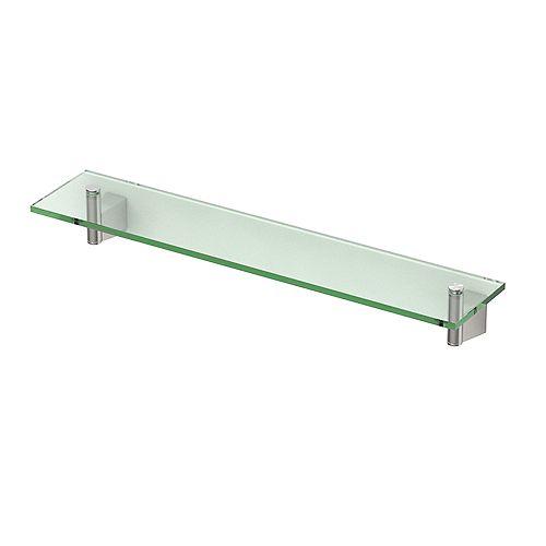 Bleu 20 1/8 inch L Glass Shelf Satin Nickel