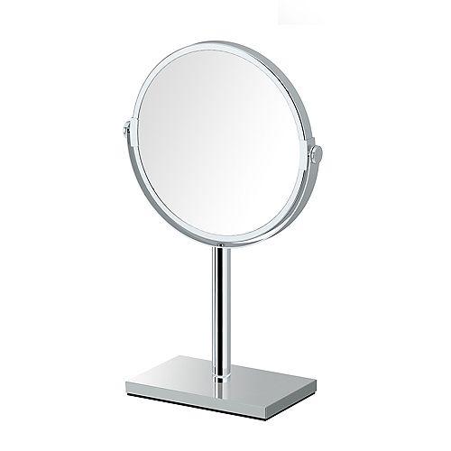 Moderne rectangle base comptoir miroir 12.5 po chromé