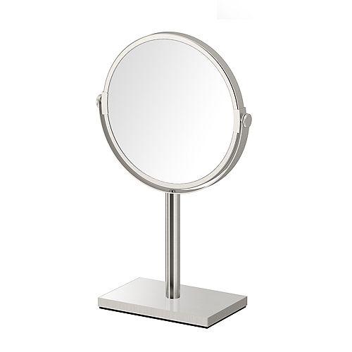 Moderne rectangle base comptoir miroir 12.5 po nickel satiné