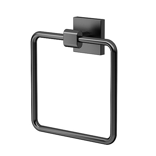 Gatco Elevate Towel Ring Matte Black