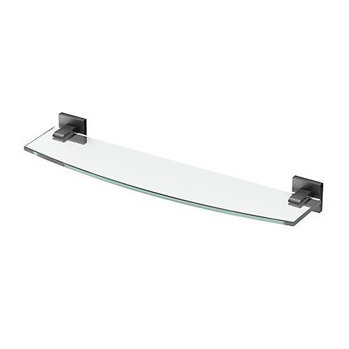 Elevate 20 1/8 inch L Glass Shelf Matte Black