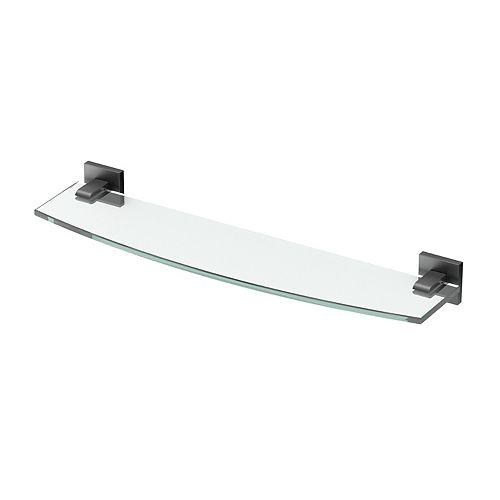 Elevate 20 1/8 inch L Glass Shelf Matte Black