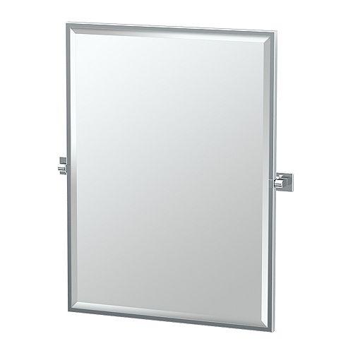 Elevate 32.5 po miroir rectangle encadré chromé