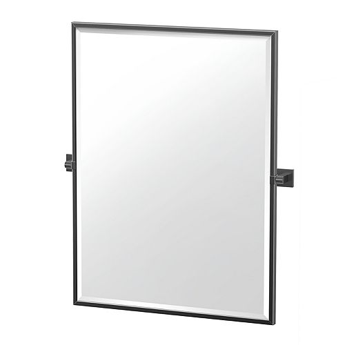 Elevate 32.5 po miroir rectangle encadré noir mat