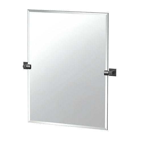 Elevate 31 1/2 inch H Frameless Rectangle Mirror Matte Black