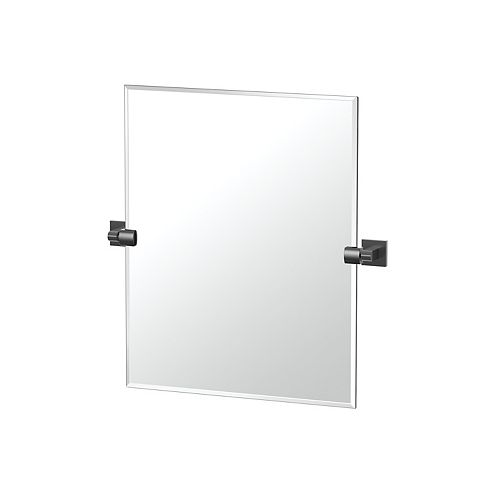 Elevate 24 po sans cadre rectangle miroir noir mat