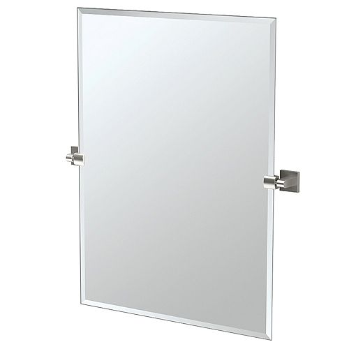 Elevate 31.5 po sans cadre rectangle miroir nickel satiné