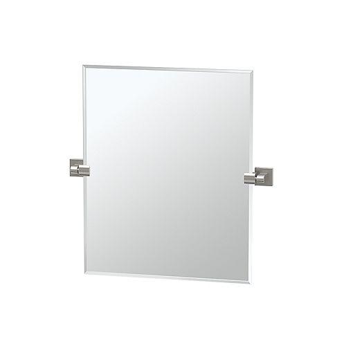 Elevate 24 po sans cadre rectangle miroir nickel satiné