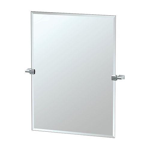 Bleu 31 1/2 inch H Frameless Rectangle Mirror Chrome