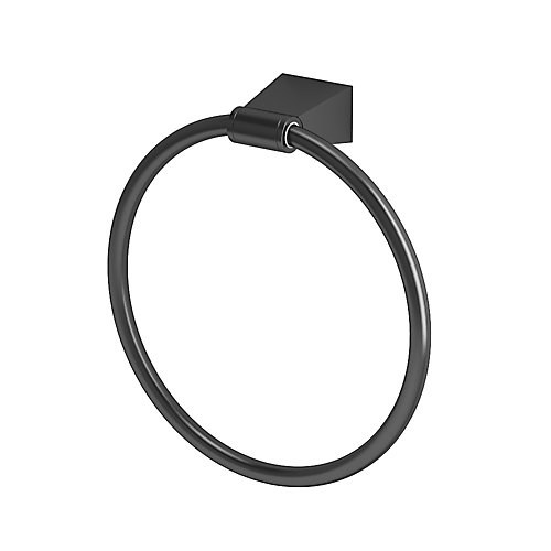 Bleu Towel Ring Matte Black