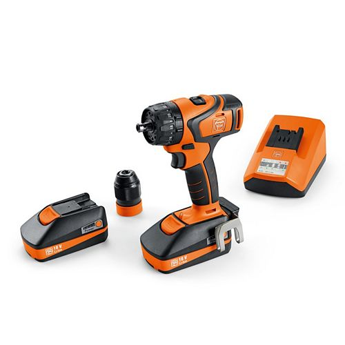 FEIN 18 Volt 2-Speed Cordless Drill-Driver Set With 3Ah Batteries And Charger