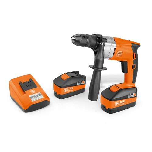 ABOP10 SET Cordless Hand Drill 3/8 inch cap. with 2 batteries, charger and case