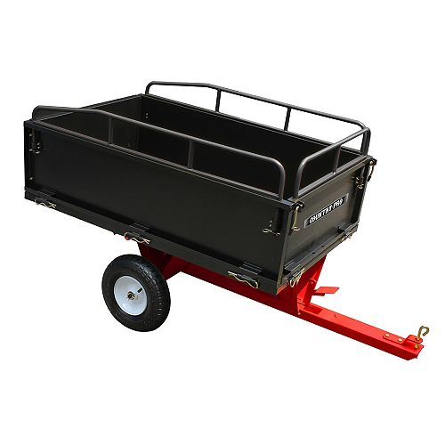Cart Dump 14 cu. ft. Tow Behind Dump Cart with Rails And 16 inch Tires