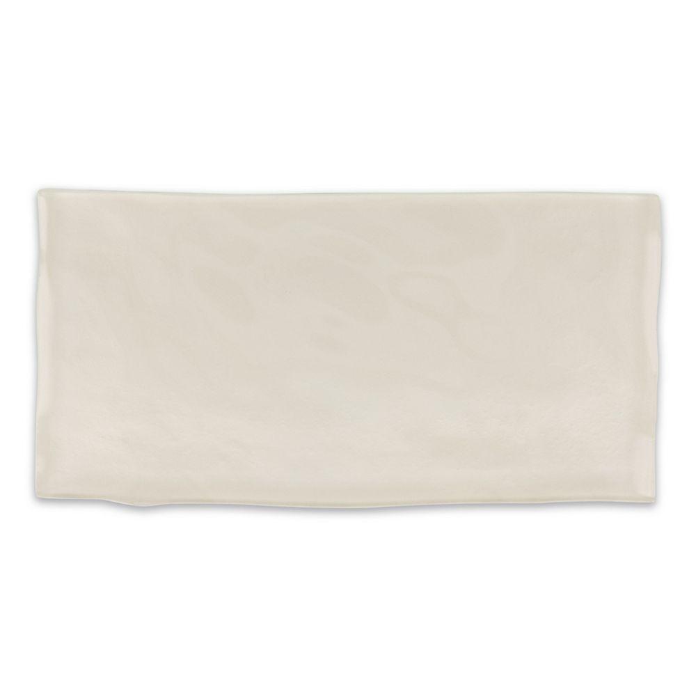 Modamo Carreau Artisan, verre, 3 x 6 po, ivoire, 8,23 pi2/boîte