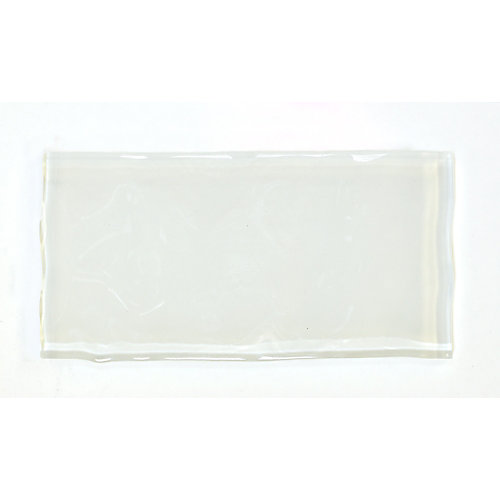 Artisan White 3-inch x 6-inch Glass Tile (8.23 sq. ft. / case)