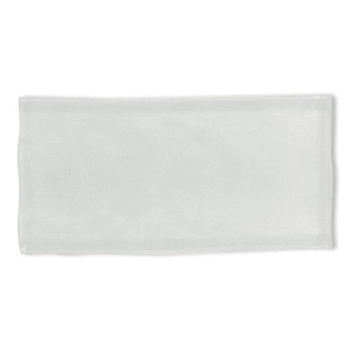Carreau Artisan, verre, 3x 6po, blanc, 8,23pi2/boîte